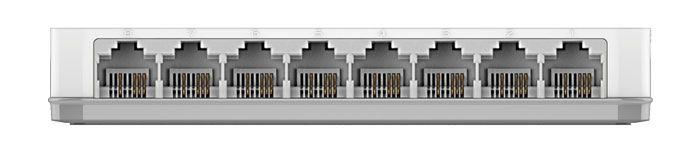 محل قرارگیری پورت های سوئیچ دی لینک مدل DES-1008A