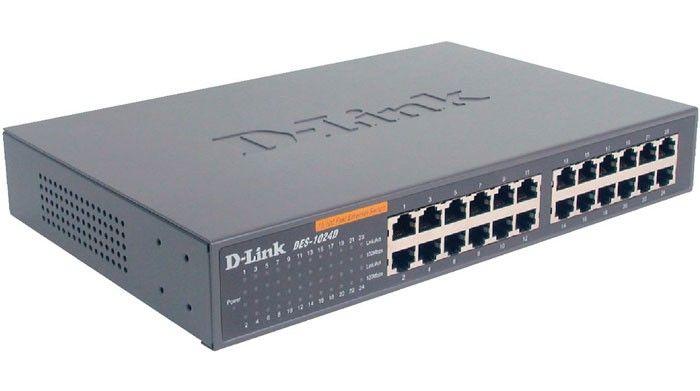 سوئیچ غیر مدیریتی ۲۴ پورت دی لینک مدل DES-1024D