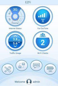 اپلیکیشن EZFI برای مودم های همراه دی لینک