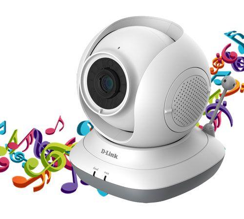 با DCS-855L صدای خود را به عنوان لالایی برای فرزندتان پخش کنید .