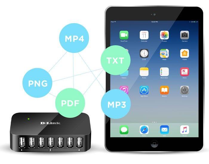 پورت های USB لپ تاپ خود را با DUB-H7 زیاد کنید