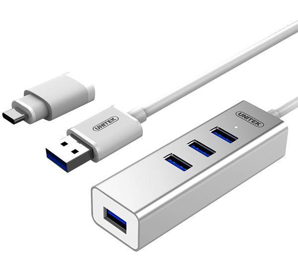 هاب ۴ پورت USB 3.0 یونیتک Y-3082B