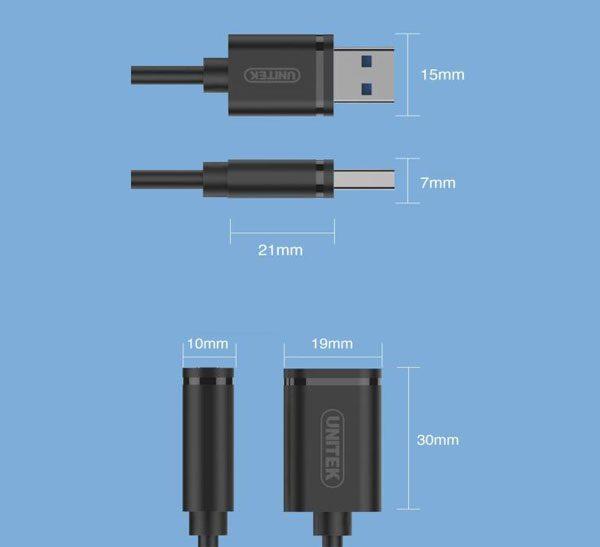 کابل افزایش طول USB 3.0 یونیتک Y-C459GBK