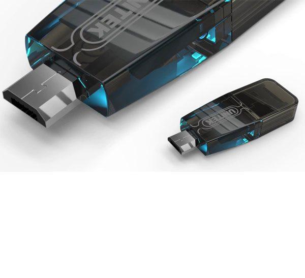 رم ریدر USB2.0 و micro USB یونیتک Y-2212