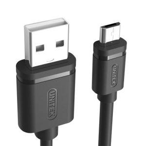 کابل شارژر Micro USB یونیتک Y-C434GBK