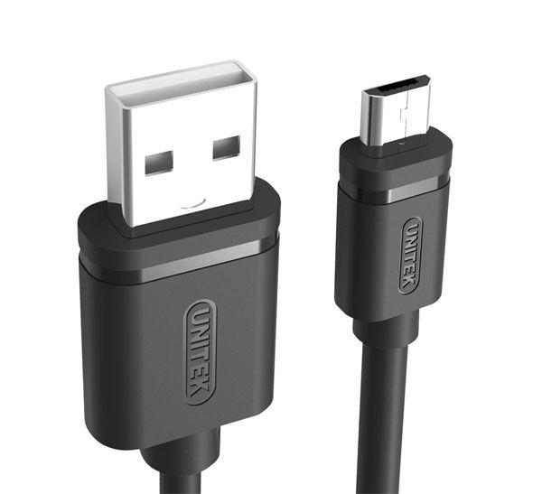 کابل شارژر Micro USB یونیتک Y-C435GBK