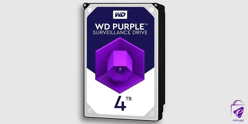 هارد دیسک اینترنال وسترن مدل PurPle ظرفیت ۴ ترابایت