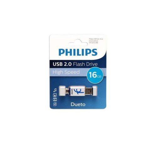 فلش USB 2.0 فیلیپس OTG ظرفیت 16 گیگابایت