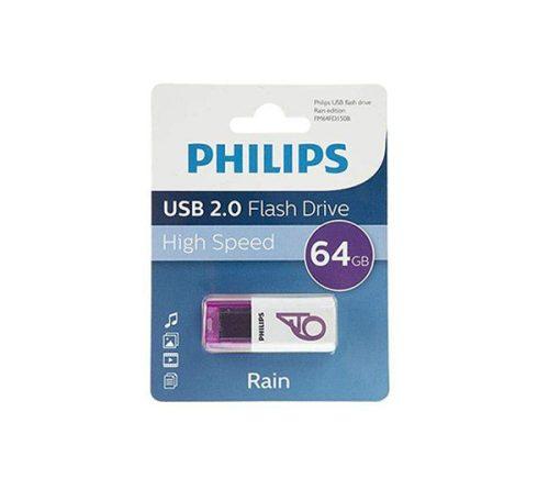 فلش USB 2.0 فیلیپس rain ظرفیت ۶۴ گیگابایت