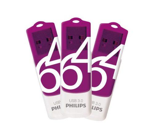 فلش USB 3.0 فیلیپس vivid ظرفیت ۶۴ گیگابایت
