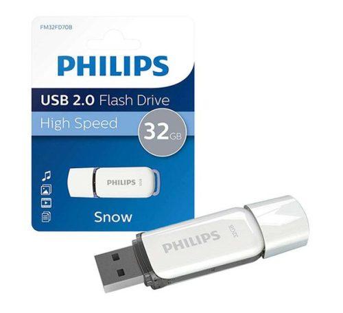 فلش USB 2.0 فیلیپس snow ظرفیت ۳۲ گیگابایت