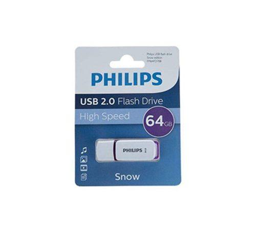 فلش USB 2.0 فیلیپس snow ظرفیت 64 گیگابایت