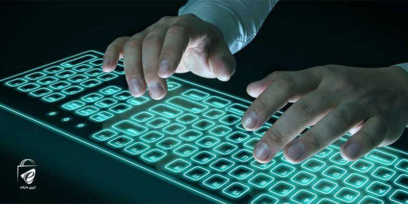 تایپ کردن با صفحه کلید مجازی